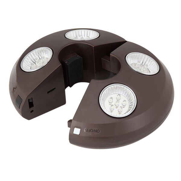 Rechargeable Umbrella Light in Bronze by Blue Wave Products
