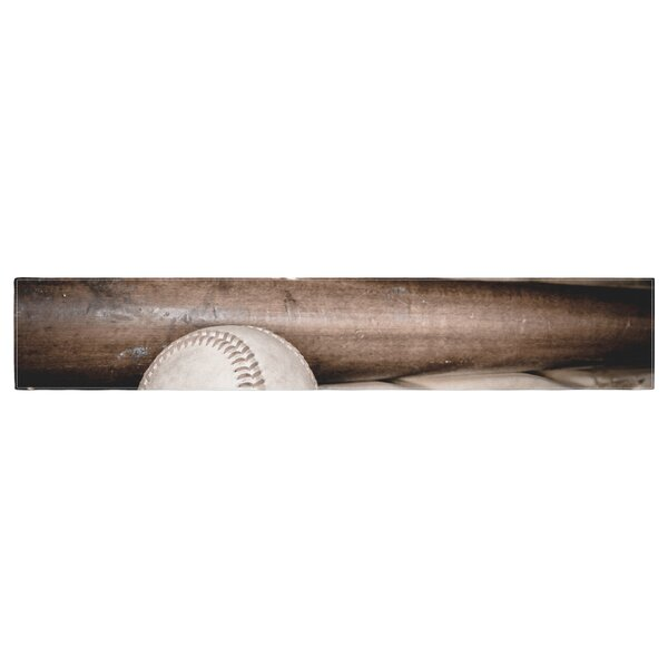 Debbra Obertanec Play Ball Baseball Table Runner by East Urban Home