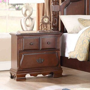 Bethany 3 Drawer Nightstand by Fairfax Home Collections