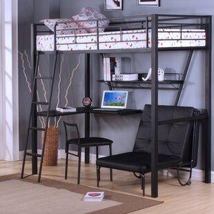 Senon Loft Bed With Desk