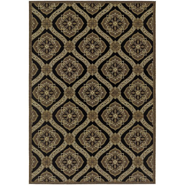 Ridgway Black/Green Napoli Indoor/Outdoor Area Rug by Darby Home Co