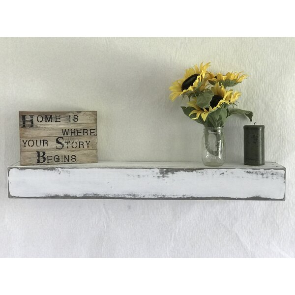 Reclaimed Distressed Wood Floating Shelf by Essex Hand Crafted Wood Products