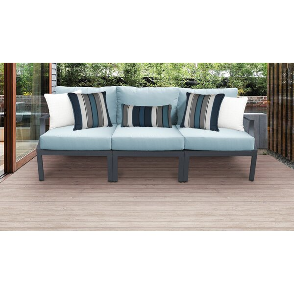 Benner Outdoor Aluminum 3 Piece Sectional Seating Group with Cushion by Ivy Bronx