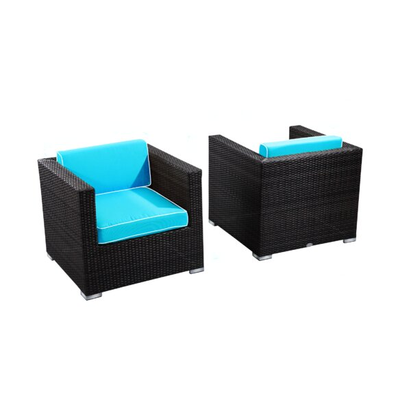Brighton Outdoor Arm Chair with Cushion (Set of 2) by Rattan Outdoor Furniture