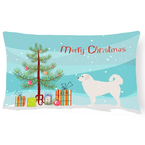 Polish Tatra Sheepdog Indoor/Outdoor Lumbar Pillow by The Holiday Aisle