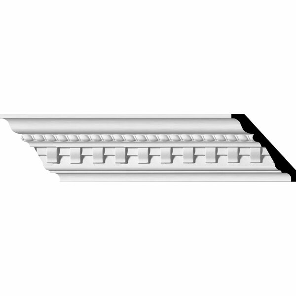 Bulwark Dentil 3 1/2H x 95 5/8W x 3 7/8D and Rope Crown Moulding by Ekena Millwork