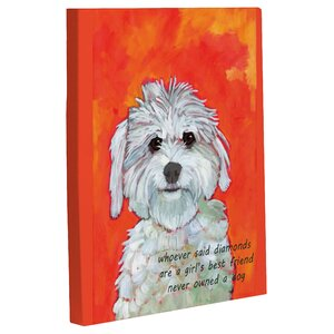 'Girl's Best Friend' Painting Print on Canvas by Andover Mills