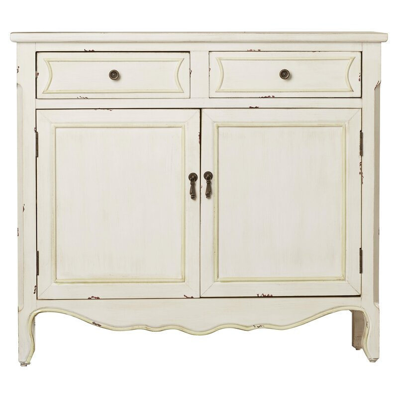 Alaina 2 Door Accent Cabinet - Come discover 50 Photos of Inspiring White Rooms With Rustic Vintage Charm!