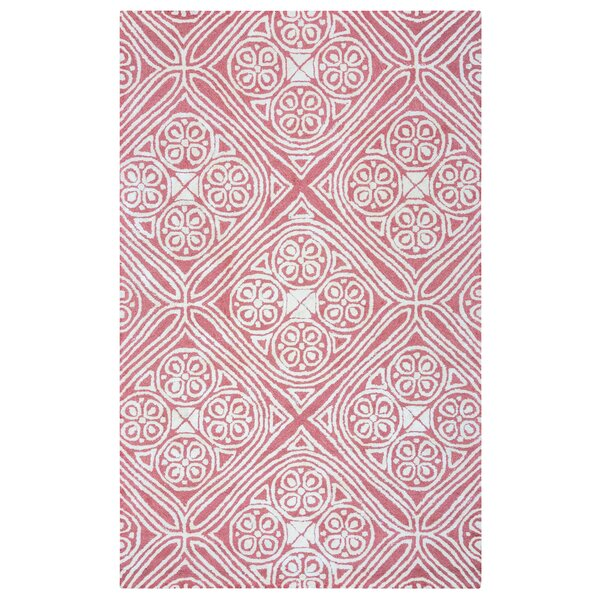 Belfast Hand-Tufted Pink/Ivory Area Rug by Meridian Rugmakers