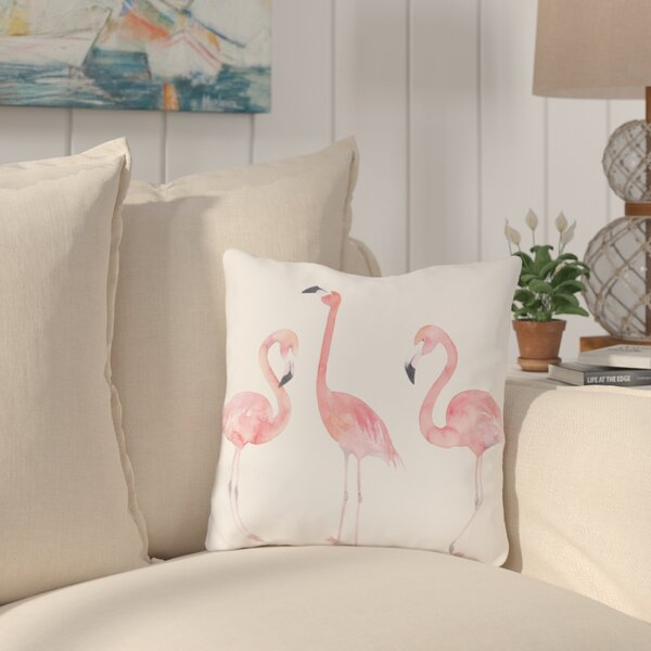Longview Flamingo Friends Outdoor Throw Pillow by Bay Isle Home