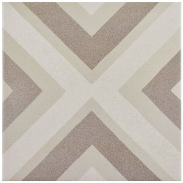 Grotta 7.88 x 7.88 Porcelain Field Tile in Taupe/Beige by EliteTile