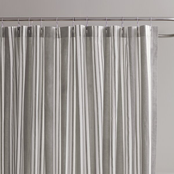 Daria Striped Cotton Shower Curtain by Birch Lane�