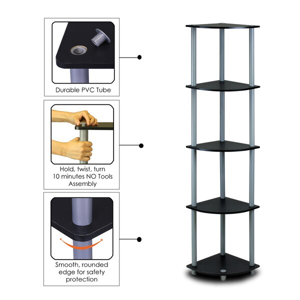 Multipurpose Display Corner Unit Bookcase by Symple Stuff