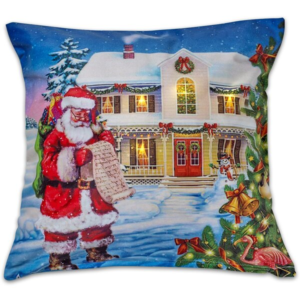 Christmas Throw Pillow by Violet Linen