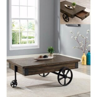Attirant Castlebourne Wagon Wheel Coffee Table With Storage