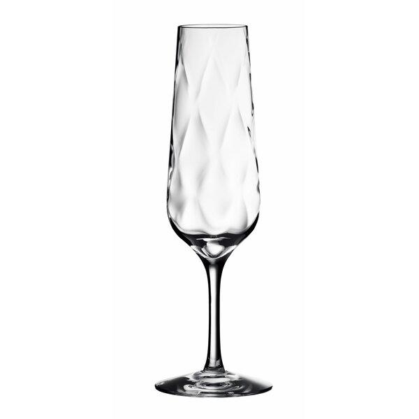 Dizzy Diamond Champagne Flute by Orrefors