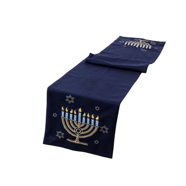 Banner Hanukkah Velvet Touch Light Up Table Runner by The Holiday Aisle