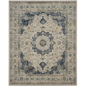 Elson Ivory & Blue Area Rug