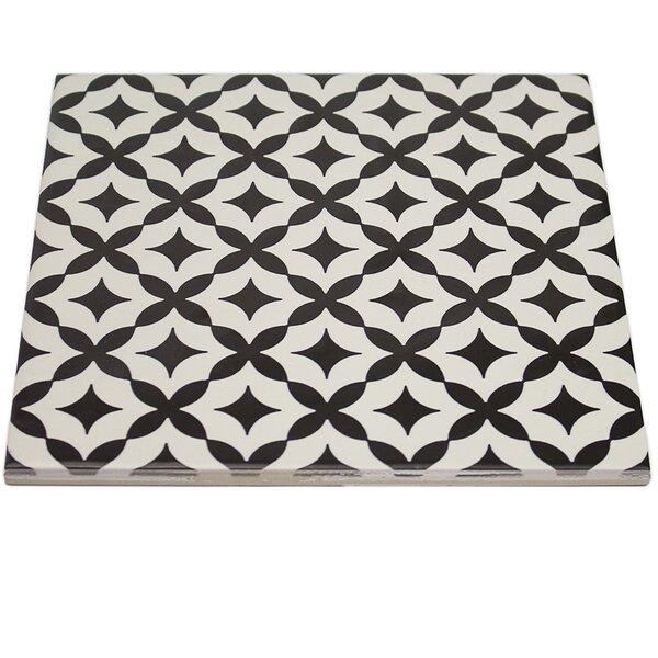 Reggino 9 x 9 Porcelain Field Tile in Matte Blanco/Nero by Splashback Tile