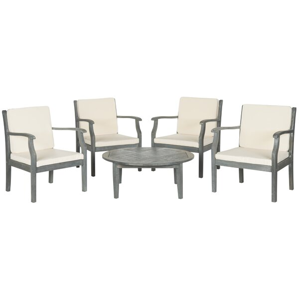 Colfax 5 Piece Conversation Set with Cushions by Safavieh