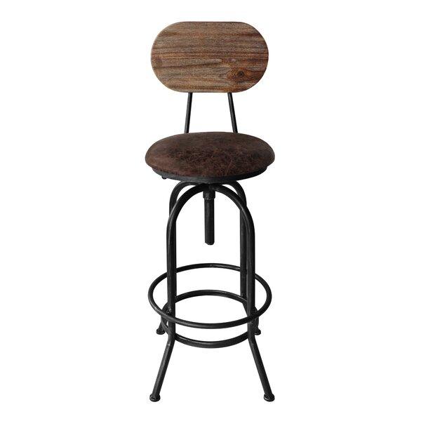 Peavey Adjustable Height Swivel Bar Stool by Gracie Oaks