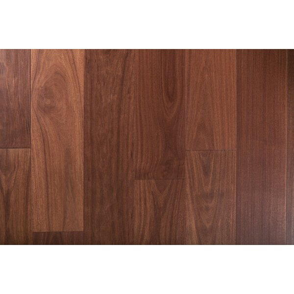 Exotic 7-1/2 Engineered Santos Mahogany Hardwood Flooring in Natural by GoHaus
