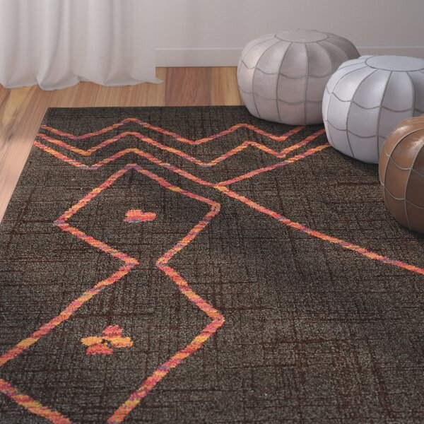 Marquis Brown/Orange Area Rug by Bungalow Rose