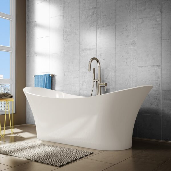 Evita 69 x 29 Freestanding Soaking Bathtub by A&E Bath and Shower