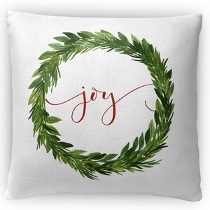 Joy Fleece Throw Pillow