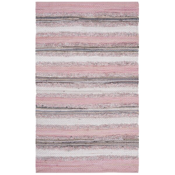 Monaca Hand-Woven Pink/Gray Area Rug by Gracie Oaks