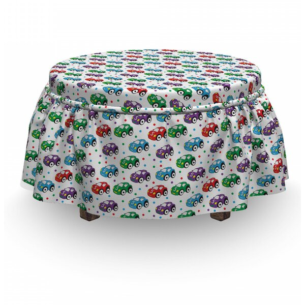 Cars Kids Toys For Play Time 2 Piece Box Cushion Ottoman Slipcover Set By East Urban Home