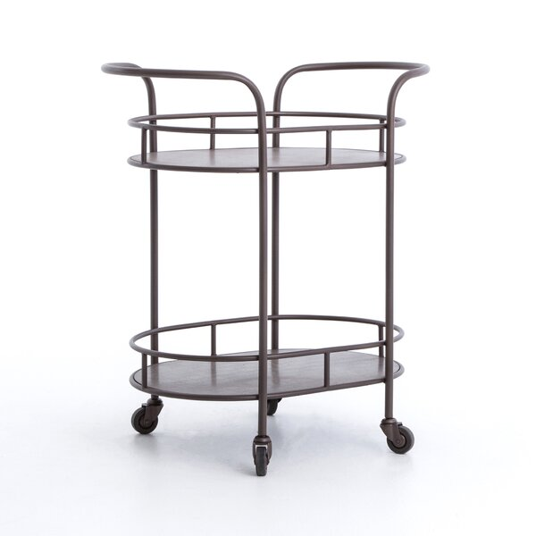 Thalassa Oval Bar Cart by 17 Stories