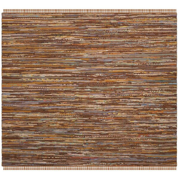 Apeldoorn Hand-Woven Cotton Brown Area Rug by Bungalow Rose