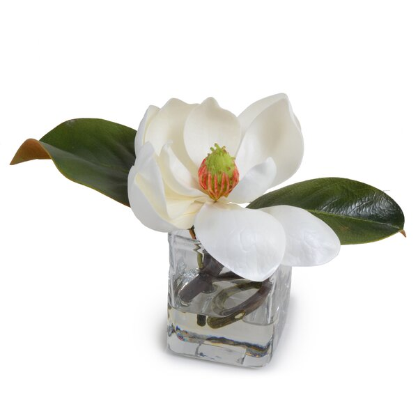 Faux Magnolia Blossom Vase by New Growth Designs