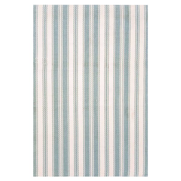 Hand Woven Blue/Ivory Indoor/Outdoor Area Rug by Dash and Albert Rugs