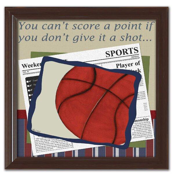 Basketball in the News Framed Art by Doodlefish