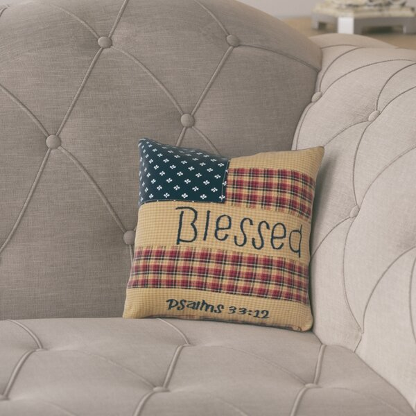 Redd Patch Blessed Cotton Throw Pillow by August Grove