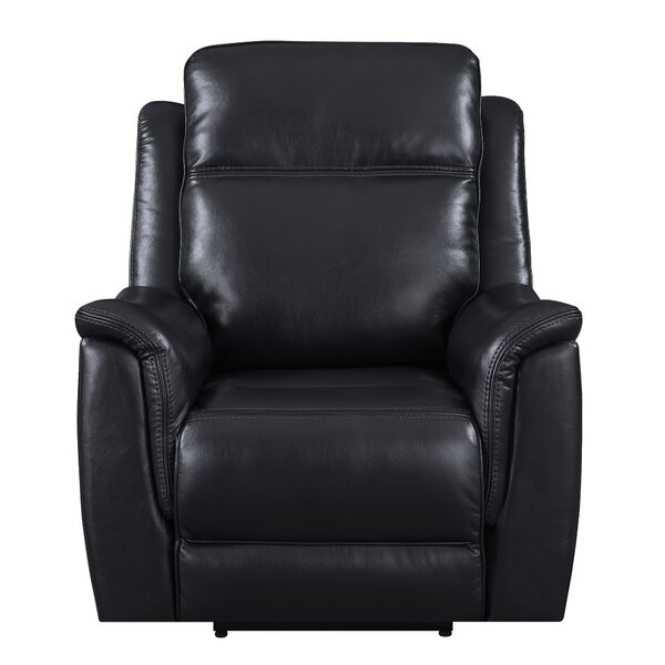 Kavanagh Leather Power Recliner with Adjustable Headrest & Lumbar Support by Red Barrel Studio Red Barrel Studio