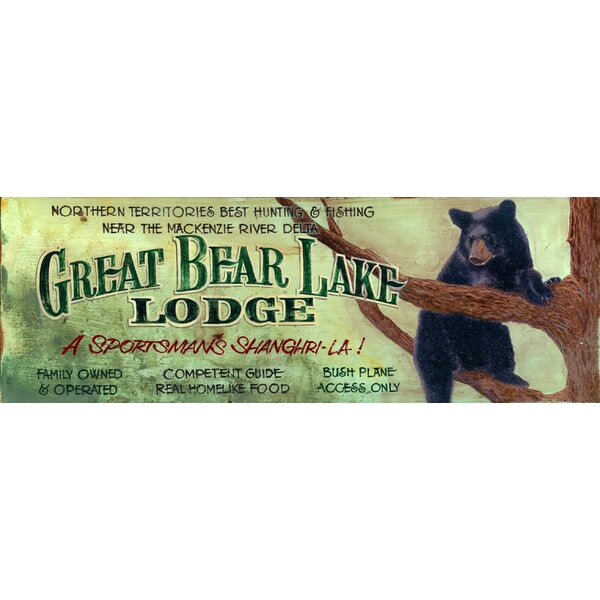 Great Bear Lake Vintage Advertisement Plaque by Millwood Pines