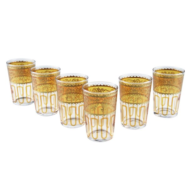 Moroccan Essaouira Glasses (Set of 6) by Casablanca Market