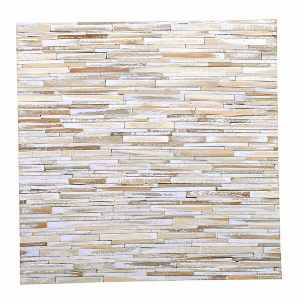 Artistica Valley 16.54 x 16.54 Teakwood Mosaic Tile in Vintage by Ecotessa