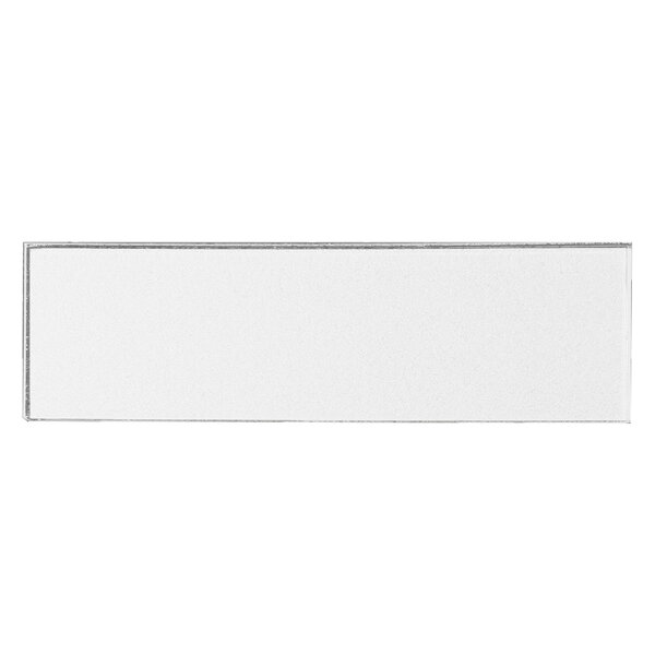 Secret Dimensions 3 x 12 Glass Subway Tile in Glossy White by Abolos