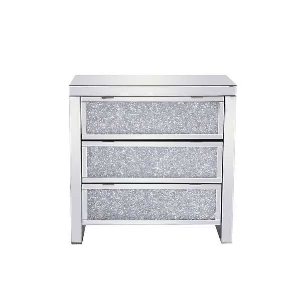 Dane Crystal 3 Drawer Accent Chest by Rosdorf Park Rosdorf Park