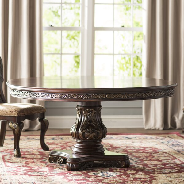 Chalus Extendable Solid Wood Dining Table by Astoria Grand Astoria Grand
