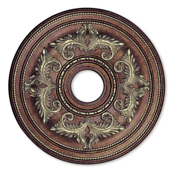 Ceiling Medallion in Palacial Bronze with Gilded Accents by Livex Lighting
