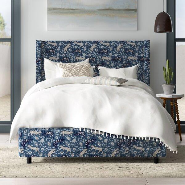 Mireya Linen Upholstered Standard Bed by Mistana