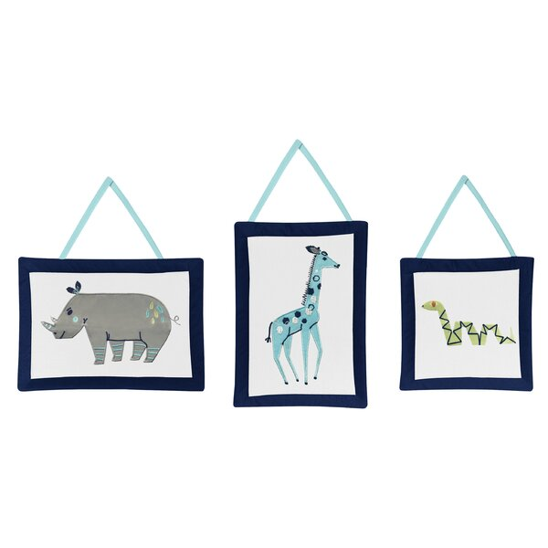 Mod Jungle Tapestry and Wall Hanging (Set of 3) by Sweet Jojo Designs