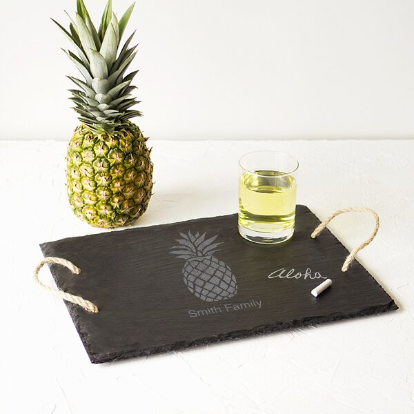 Personalized Pineapple Slate Serving Board by Cathys Concepts