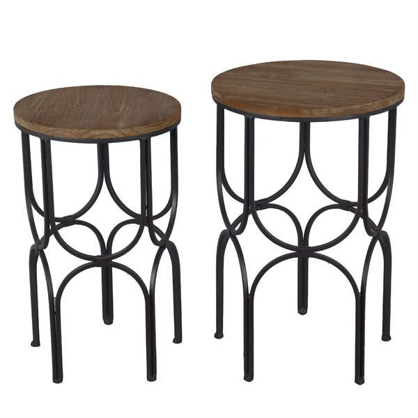 Matlock 2 Piece Pedestal Plant Stand Set by Breakwater Bay