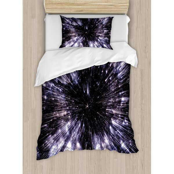 Galaxy Speed of Life Duvet Set by Ambesonne